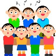 students singing cartoon on poems page.gif